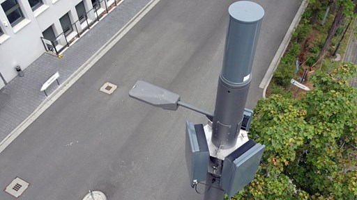 Hesse's first smart 5G street light in operation in the mobile network of Telefónica Deutschland / O2: Picture credits, Abel Mobilfunk