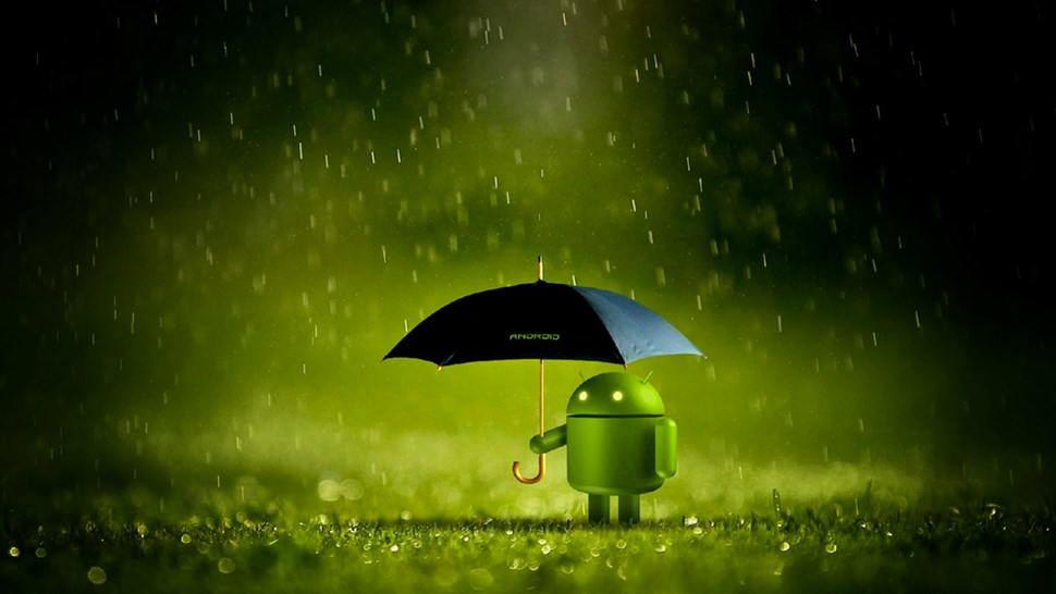 android gets wet