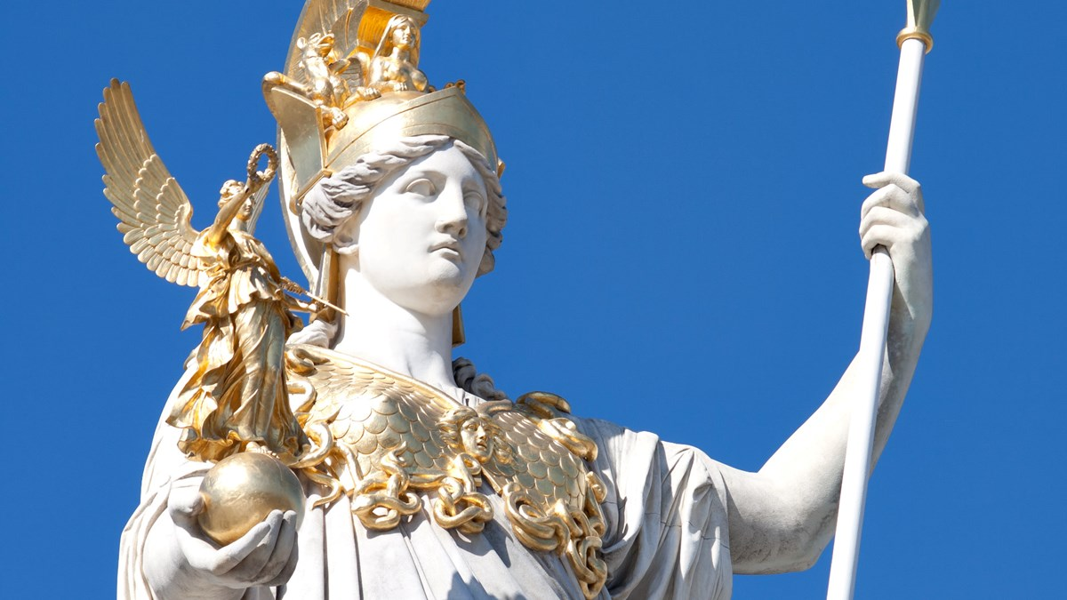 Athena, the Greek Goddess of Wisdom, inspires the first ...