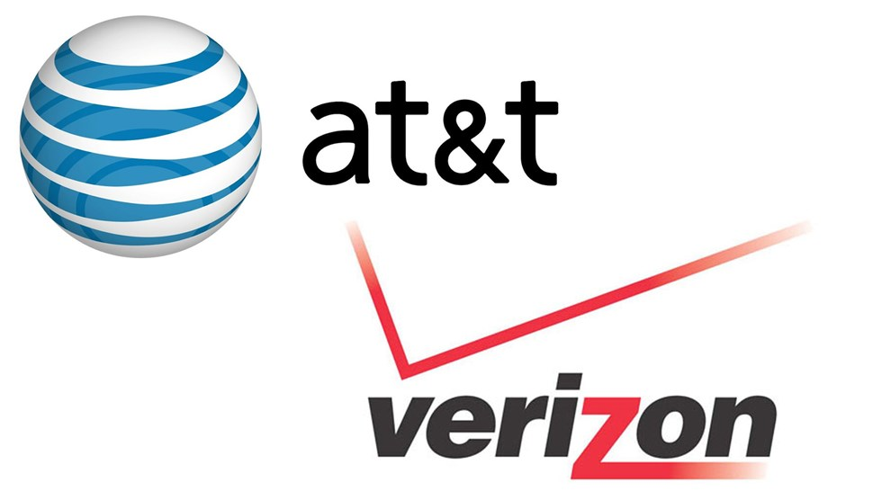 ATT and Verizon logos