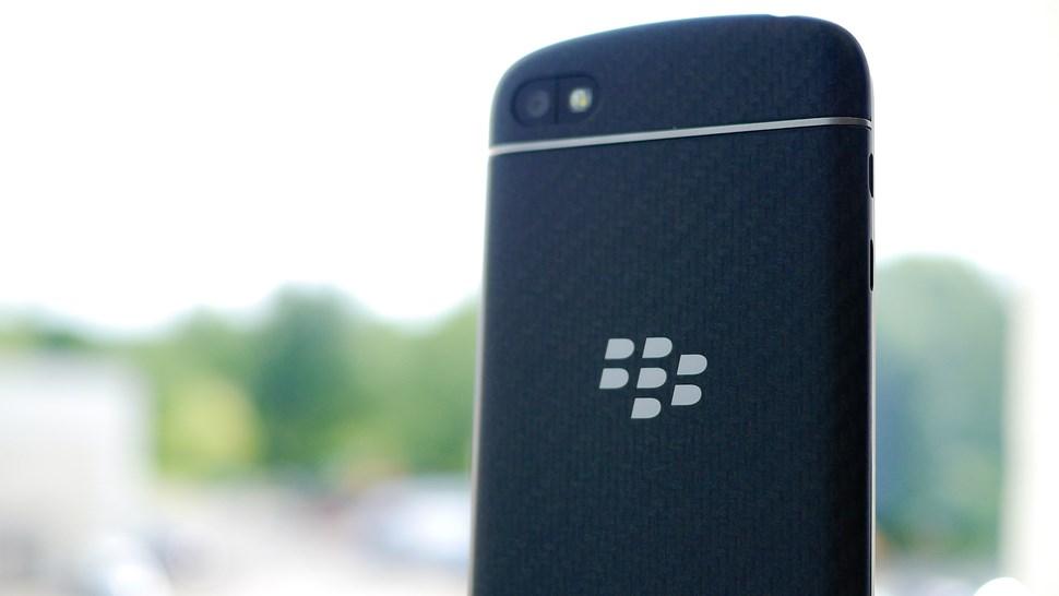 BlackBerry phone rear
