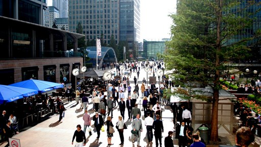 London's Canary Wharf   via Flickr © lilianwagdy (CC BY 2.0)