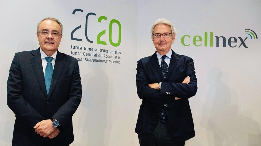 Left to right: Cellnex CEO Tobias Martinez and Chairman Franco Bernabè