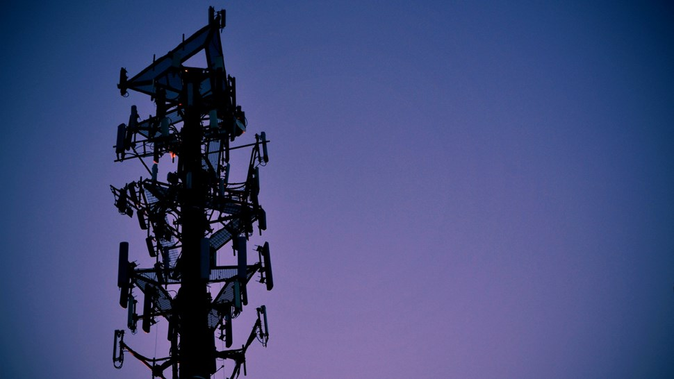 crowded cell tower