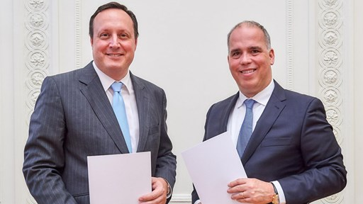 Markus Haas, Telefónica Deutschland and Dirk Wössner, Telekom Deutschland © Deutsche Telekom