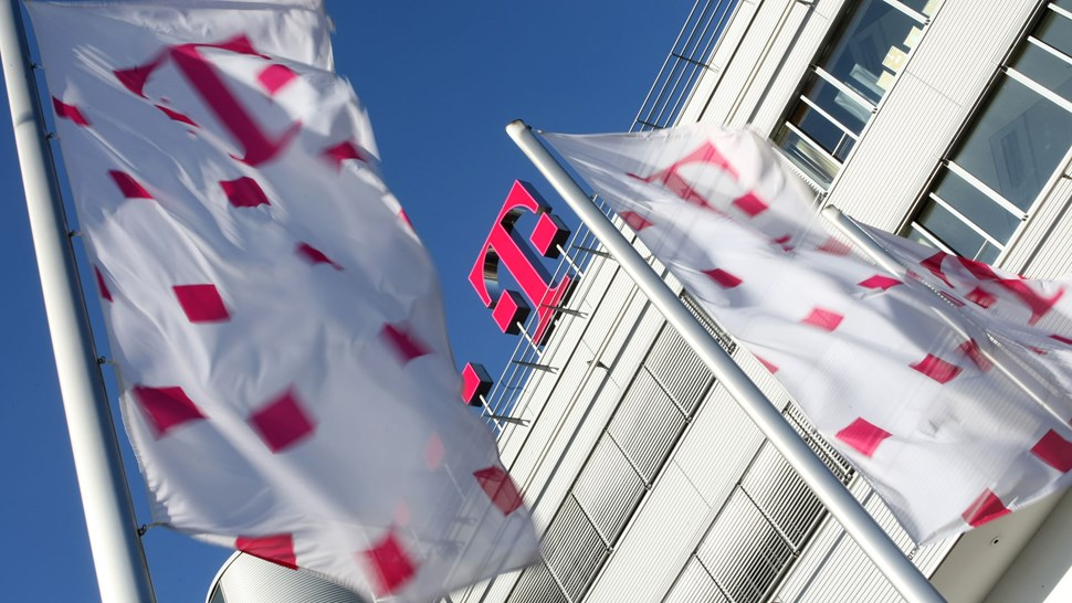 Deutsche Telekom HQ and flag