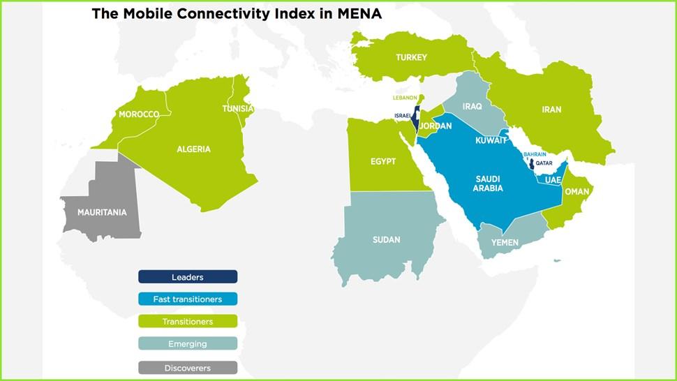 GSMA MENA map