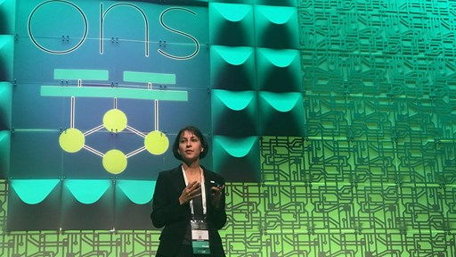 Sylvia Ratnasamy, CTO, Nefeli Networks introduces Lean NFV at ONS © TelecomTV
