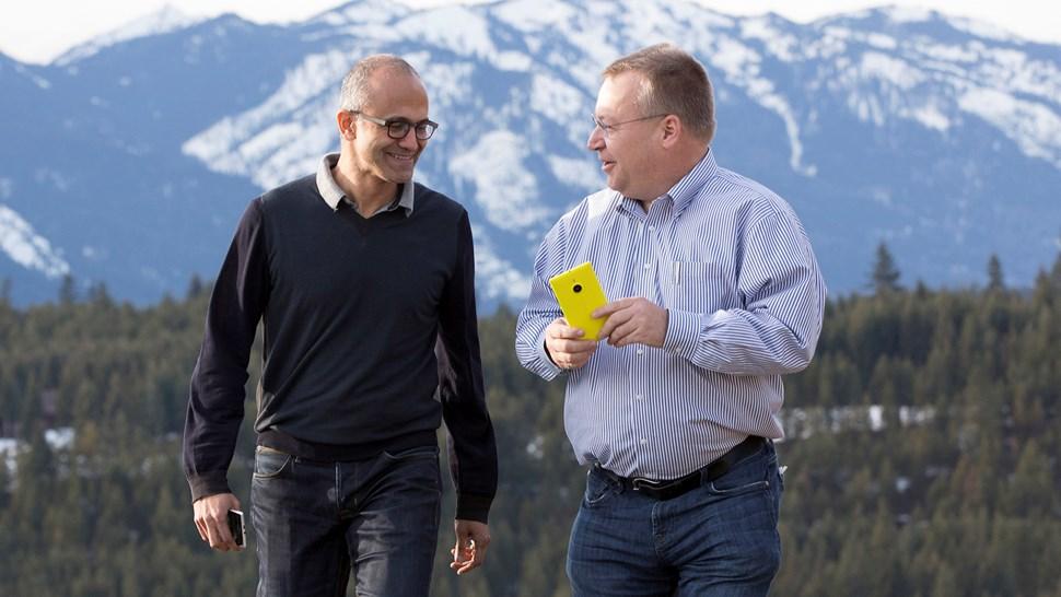 Microsoft Satya Nadella Stephen Elop