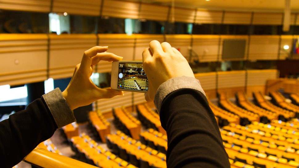 mobile in the parliament