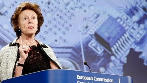 Neelie gone now, as the telcos' favourite European commissioner gets in a final word