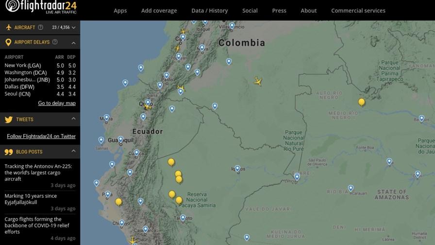 More balloons than planes. Source: Flightradar24