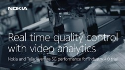 Nokia and Telia leverage 5G performance for Industry 4.0