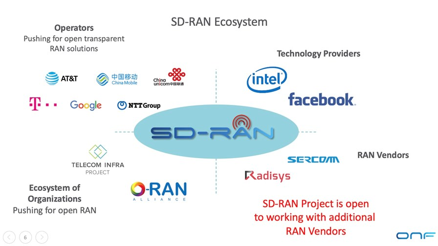 5G SD-RAN project to accelerate open RAN, says ONF