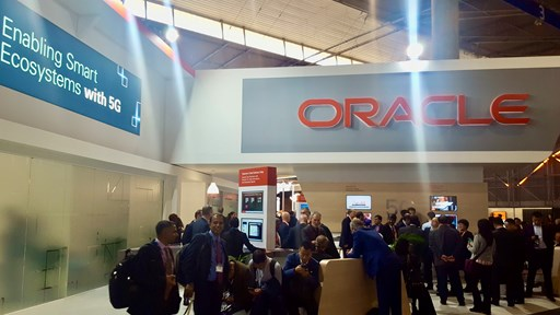 Oracle's booth at MWC 2019
