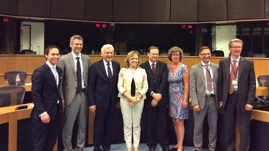 European negotiators celebrate historic roaming and net neutrality deal © ITRE Committe via Twitter @EP_Industry