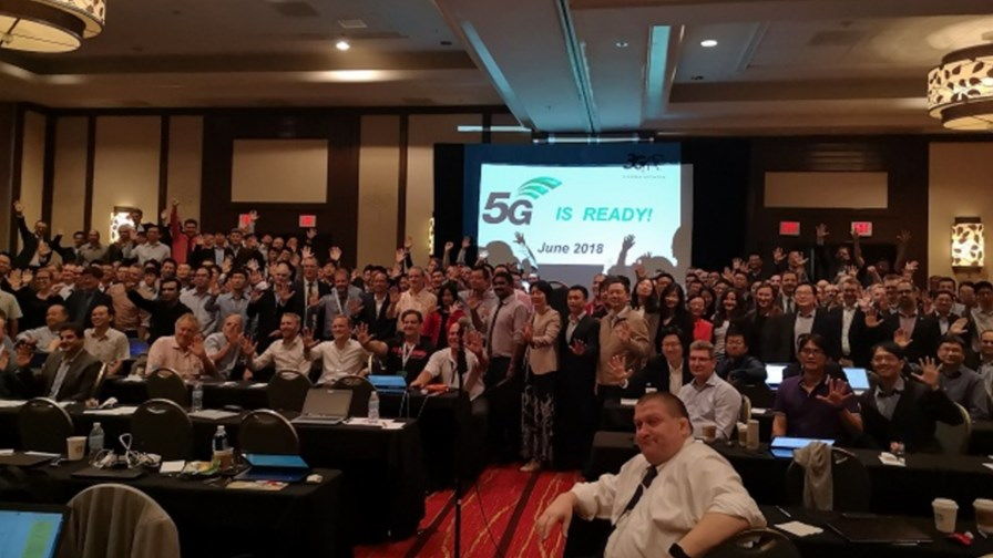 Elated delegates cheer in the approval of  standalone' Release 15 5G specs.   Source: Huawei