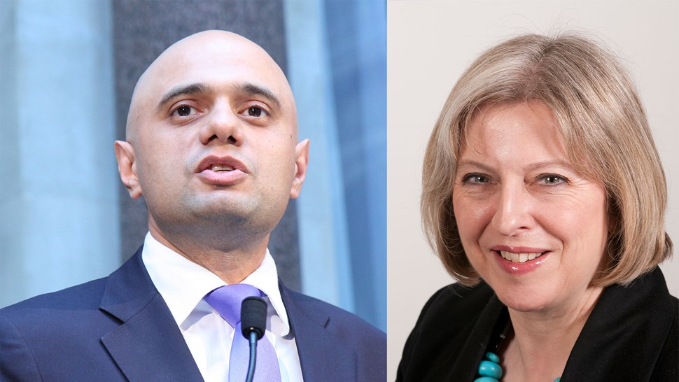 Sajid-Javid-and-Theresa-May