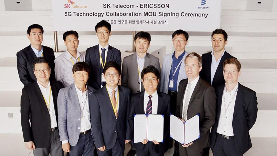 SKTelecom Ericsson 5G MoU