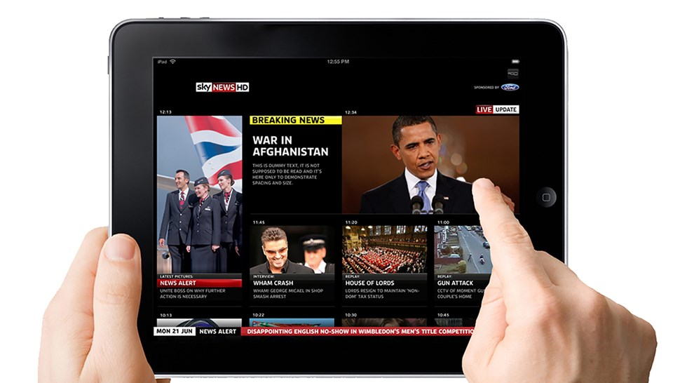 Sky News on iPad