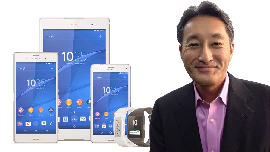CEO Kazuo Hirai and Xperia Z3 range © Sony/Cellanr via Flickr CC/TTV montage