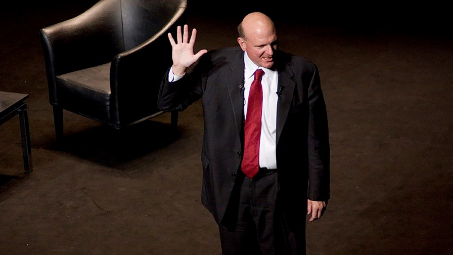 Steve Ballmer leaves the stage... © Flickr/cc-licence/Bayerberg