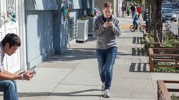 "Walkers have evolved a ""protective shuffle"" whilst texting"