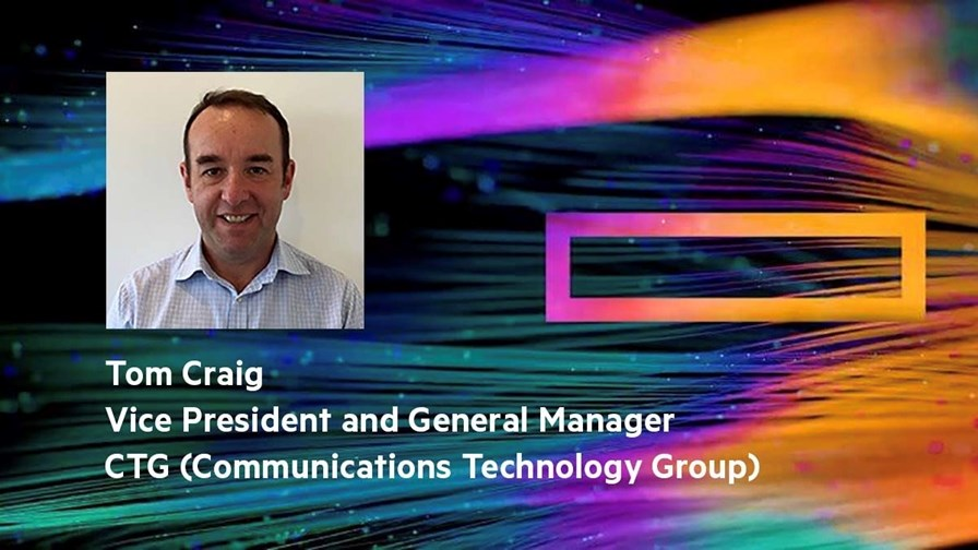 Tom Craig, VP and General Manager of the Communications Technology Group (CTG), HPE