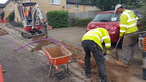 Digging in the fibre old style