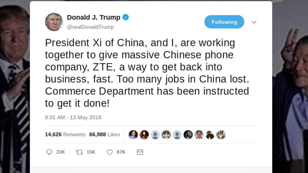 Trump reverses ZTE trade ban with a tweet   TelecomTV