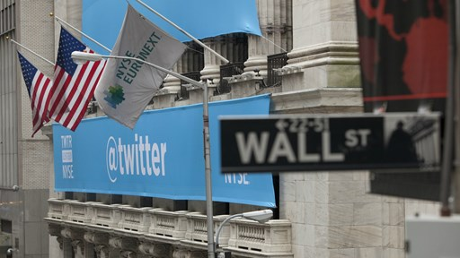 Happier Days!  The flags fly for Twitter on the day of its IPO        via Flickr © Anthony Quintano (CC BY 2.0)