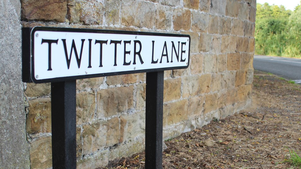 Twitter road sign