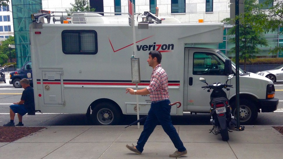 Verizon van
