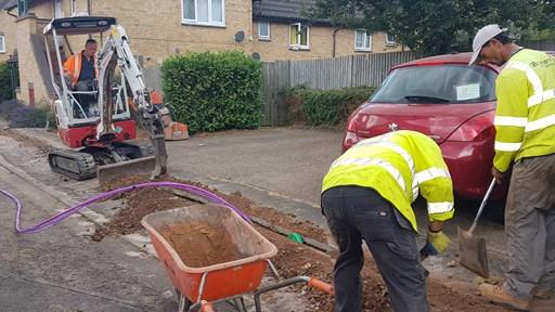 CityFibre digs its way through the suburbs of Milton Keynes
