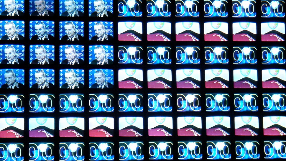 wall of tvs