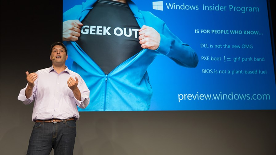 Terry Myerson at the Windows 10 launch © Microsoft