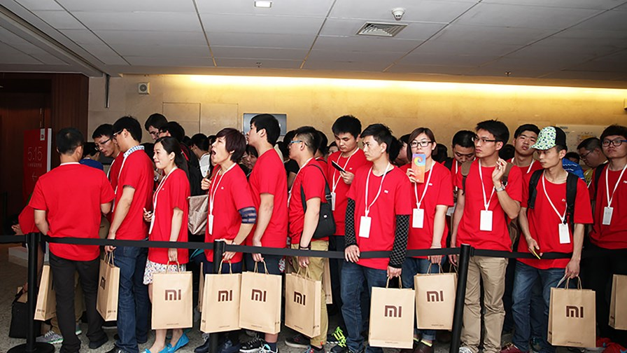 Fans queue for a Xiaomi launch event © Xiaomi