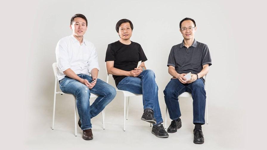 © Xiaomi (l-r) CFO Shou Zi Chew, CEO Lei Jun, President Bin Lin